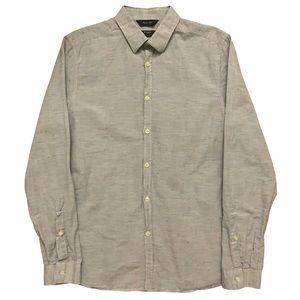 Paul Smith London Shirt Slim Linen Grey 15 1/2-39